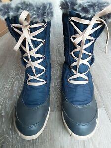 DECATHLON Quechua Ladies Blue Snow Waterproof Lace Up Walking Boots size 5.5