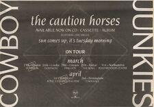 31/3/90Pgn29 Advert: Cowboy Junkies the Caution Horses Album On Rca 7x11