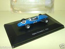 ALPINE FORMULE 2 F2 #10 1964 ELIGOR 1/43 BLEU BLUE RACE HACHETTE BOITIER BLISTER