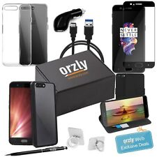 OnePlus 5 Case And Accessory Bundle Pack Screen Protector Case USB Charger Orzly