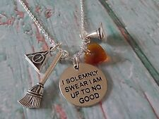 Harry Potter gift, wizard charm necklace, up to no good, fandom jewellery gift