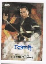2017 Star Wars Rogue One series 2 autograph card Donnie Yen black 04/50