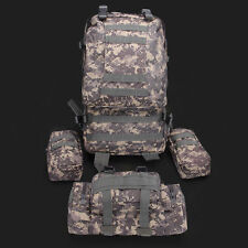 55L Molle ACU Outdoor Military Tactical Bag Camping Hiking Trekking Backpack