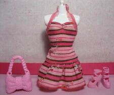 BARBIE-FASHIONISTAS SWAPPIN STYLES CLOTHES SWEETIE DOLL DRESS/SHOES/PURSE SET