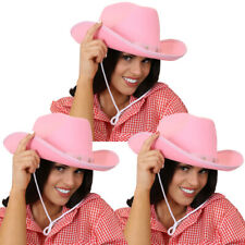 PACK OF PINK COWBOY HATS STAR STUDDED COWGIRL FANCY DRESS COSTUME HEN NIGHT LOT