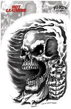 Yujean Aufkleber Assassin Skull MC Rockabilly Old School Motorcycles Reaper Gun