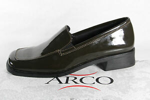 Arco Ballerines pour Femmes Chaussures Basses Baskets Vert Olive Neuf