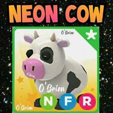 🐄 (NFR) NEON COW  🐄 with Fly Ride. Adopt Me. Roblox. farm egg Pet game toy