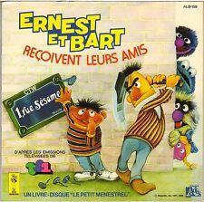 """ERNEST & BART LIVRE-DISQUE """"RECOIVENT LEURS AMIS"""" EP TF1 EMISSION """"1 RUE SESAME"""""""