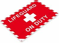 Life Guard On Duty Tin Metal Sign