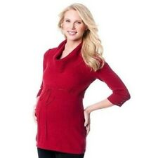 Oh baby by Motherhood Maternity Womens Red Sweater Cowlneck 3/4 Sleeve Sz M NWT