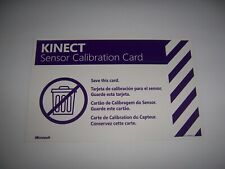 Offical Kinect Sensor Calibration Card - XBox 360