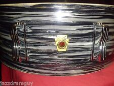 Vintage Ludwig Jazz Festival Snare - Black Oyster Pearl Ringo Starr Beatles!
