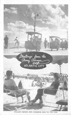 Army Airmen, Atlantic City, NJ Cabanas Beach Scene WWII Vintage Postcard