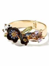 Banana Republic Jeweled Fireworks Burst Enamel Flower Cuff Bracelet NWT $62