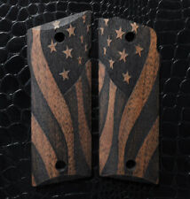 COONAN 357 Grips Full Size AMERICAN FLAG Dark Walnut