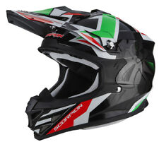CASCO tg. S MOTO CROSS OFFROAD Scorpion VX 15 EVO AIR ROBOT Nero Verde