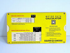 Motor Data Calculator Booklet Industrial Engineers Manages Manual Production