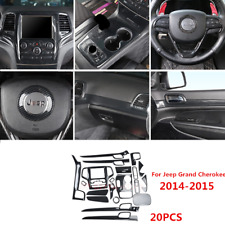 20pc Accessories Carbon Fiber ABS Cover Trim Kit For 2014-15 Jeep Grand Cherokee