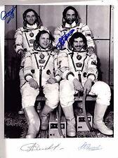 1990 Soyuz Tm-9 Autographed Picture Prime & Backup Crew