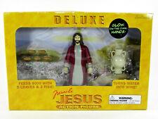 "Accoutrements DELUXE MIRACLE JESUS 5.5"" Action Figure Set Glow In Dark Hands MIB"