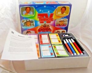 Vintage 1988 collectible TV times Television quiz game family game pre owned