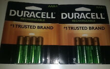 Duracell Rechargeable AAA Batteries 8 Count 2- 4 PACKS