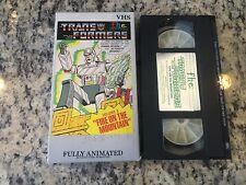 TRANSFORMERS VOLUME 8 FIRE ON THE MOUNTAIN RARE VHS 1984 FHE ANIME CARTOON FUN!