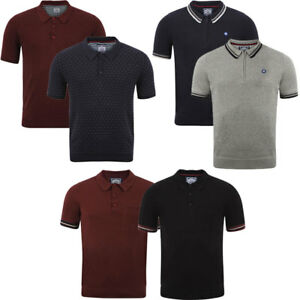 Mens Le Shark Knitted Classic Short Sleeve Cotton Polo Shirt Knit Top Size S-XL