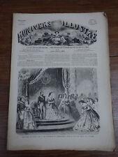 L'UNIVERS ILLUSTRE 1860 Nr 86 NAPOLEON III MORT DU CERF DAME DU COMPTOIR DE CAFE