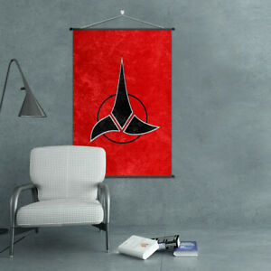 Factions Flag Scroll Poster Emblem Cloth Prints Home Wall Art Gift of Trekkies