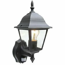 NEW BLACK SECURITY LIGHT WITH PIR MOTION SENSOR DETECTOR LANTERN FLOODLIGHT SPOT