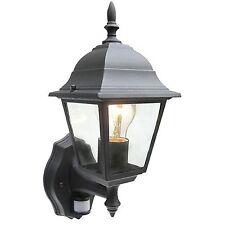 Nouveau noir sécurité lumière détecteur mouvement PIR Détecteur Lanterne Éclairage Spot