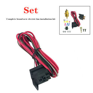 Universal Electric Fan Wiring Install Kits Thermostat 50 Amp Relay 185° SBC BBC