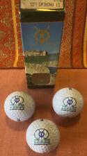 St. Andrews Scotland (blue) Golf Course Logo Golf Ball Set 3 In Box. New