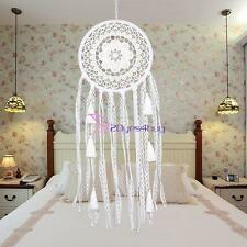 White Dream Catcher With Tassels Circular Car Wall Hanging Decoration Ornament