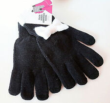 Ladies Gloves, Touch Screen Compatible, Black, One Size Fits All, NEW with Tags