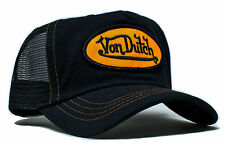 VON van DUTCH MESH TRUCKER CAP [BLACK/BLACK/YELLOW PATCH] HUT MÜTZE BASE BASECAP