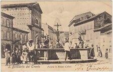 S.BENEDETTO DEL TRONTO - FONTANA IN PIAZZA D'ARMI (ASCOLI PICENO) 1904