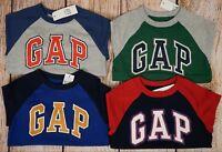 NWT Boys Baby GAP Logo Long Sleeve Baseball Style Shirt Choose Color/Size