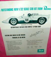 Revell 1965 Chaparral II 1/32 scale slot car kit Advertising Dealer Flyer NOS