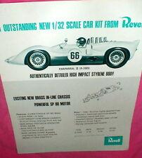 Revell 1965 Chaparral II 1/32 scale slot car kit Advertising Dealer Flyer NOS