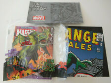 CLASSIC MARVEL FIGURINE COLLECTION FIN FANG FOOM MAGAZINE POSTER CASE EAGLEMOSS