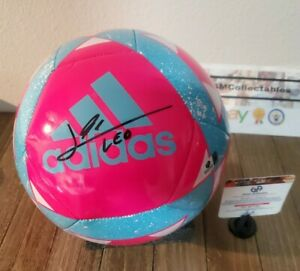 "Lionel Messi Hand Signed LOGO Soccer Ball COA Adidas ""Barcelona"" Leo football"