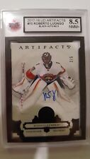 Roberto Luongo 2017-18 Artifacts Black Auto #2/5 Card KSA Graded 8.5!!!