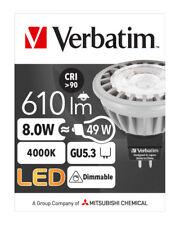 Carton lots 10 Verbatim LED Light Globe MR16 GU5.3 8W 610lm CW 35Deg Dim # 52358