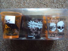 HALLOWEEN PLASTIC SHOT GLASS SET OF 6 DIFFERENT DESIGNS NEW FREE UK POST
