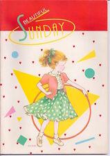 BEAUTIFUL SUNDAY 80s Kutsuwa Japan Vintage notebook mint - quaderno grande nuovo