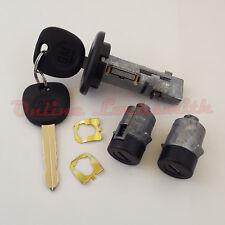 Ignition Switch Cylinder 2 Door Lock Set For Chevrolet Cadillac GMC w Keys Black