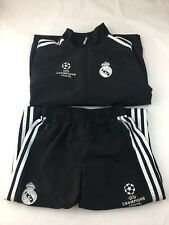 Adidas Real Madrid Champions League Jacket & Pants Kids Sz M Black